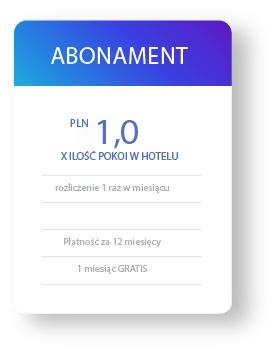 Hotel płaci abonament 1 PLN netto od pokoju na miesiąc
